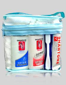 ST122 椭圆透明袋装洗漱套装(蒂花之秀)